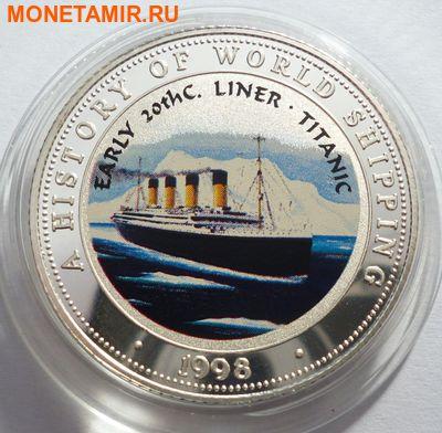 Сомали 250 шиллингов 1998.Корабль – Титаник начало 20-го века серия История мирового судоходства. (фото)