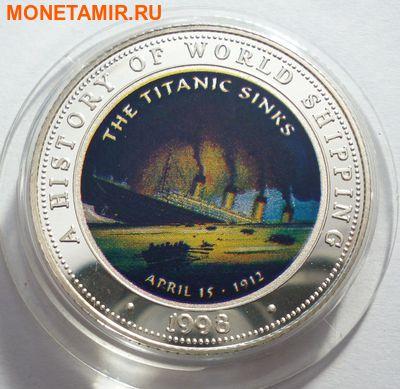 Сомали 250 шиллингов 1998.Корабль – Гибель Титаника серия История мирового судоходства. (фото)