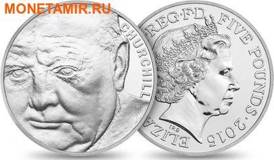 Великобритания 5 фунтов 2015.Сэр Уинстон Черчилль. (фото)