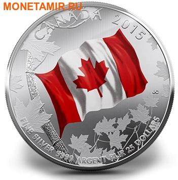 Канада 25 долларов 2015.Флаг Канады - 50 лет. (фото)