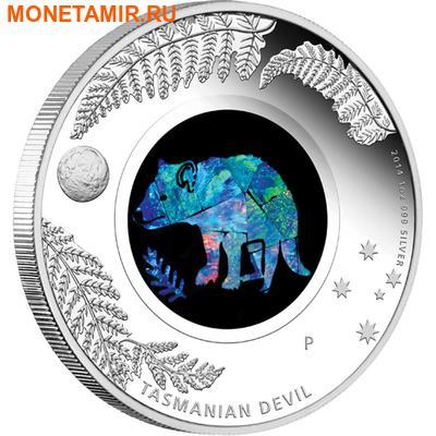 Австралия 1 доллар 2014.Тасманийский дьявол – Опал. (фото)