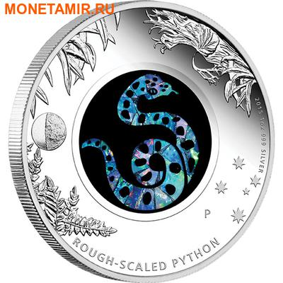 Австралия 1 доллар 2015.Змея – Опал.Арт.000100050283/60 (фото)