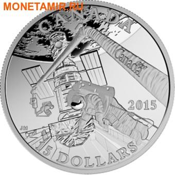 Канада 15 долларов 2015.Исследование космоса серия Изучая Канаду. (фото)