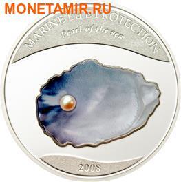 Палау 5 долларов 2008.Жемчужина моря серия Защита морской жизни. (фото)
