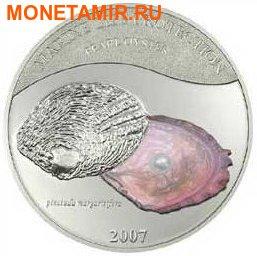 Палау 5 долларов 2007.Жемчужина серая - Пинктада маргаритифера (Pinctada margaritifera) серия Защита морской жизни. (фото)