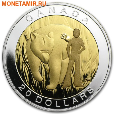Канада 20 долларов 2014.Семь Священных Учений - Мужество-Медведь.Арт.000559749478/60 (фото)