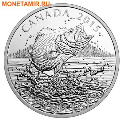 Канада 20 долларов 2015.Североамериканская спортивная рыбалка - Большеротый окунь. (фото)