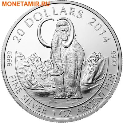 Канада 20 долларов 2014.Мамонт.Арт.000298048314/60 (фото)