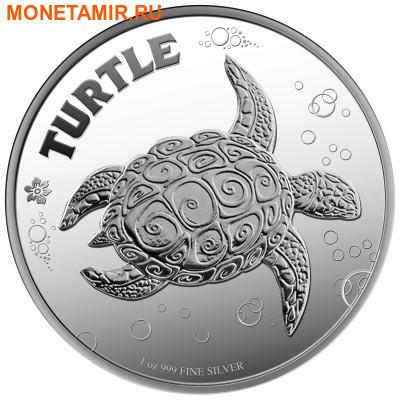Ниуэ 2 доллара 2014.Черепаха Хоксбилла (блистер). (фото)