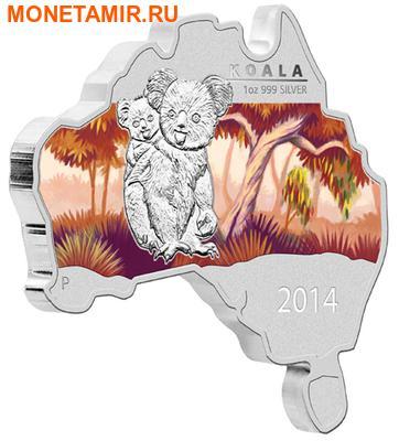 Австралия 1 доллар 2014.Коала серия Карта Австралии.Арт.000253248168 (фото)