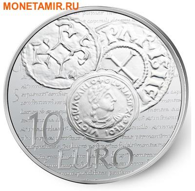 Франция 10 евро 2014.Денье 864 года. Монеты на монетах.Арт.000173548484 (фото)
