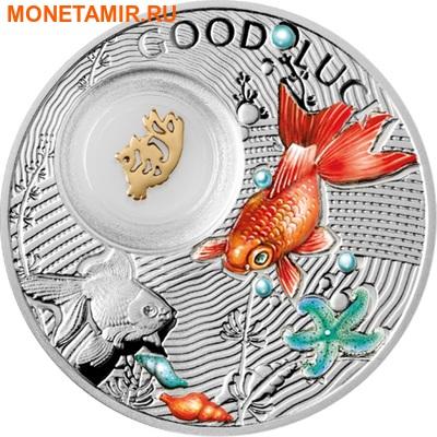 Ниуэ 1 доллар 2014.Символы счастья – Золотая рыбка.Арт.000197049063 (фото)