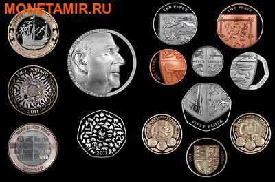 Великобритания 15,38 фунтов 2011.Эксклюзивный годовой набор 14 монет.(2011 UK Executive Proof Set in Presentation Box). (фото)
