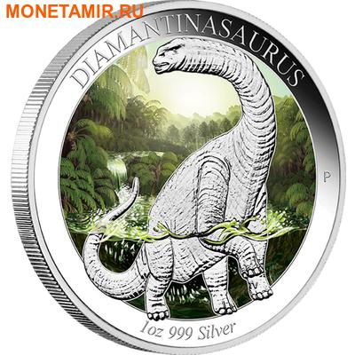 Австралия 1 доллар 2015.Динозавр – Диамантиназавр серия Австралийская эпоха динозавров.Арт.60 (фото)