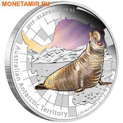 Австралия 1 доллар 2015.Тюлень – Морской Слон серия Австралийские Антарктические Территории.