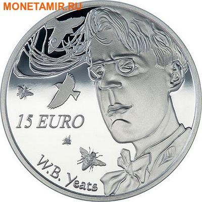 Ирландия 15 евро 2015.Уильям Батлер Йейтс.Арт.000100050850/60 (фото)