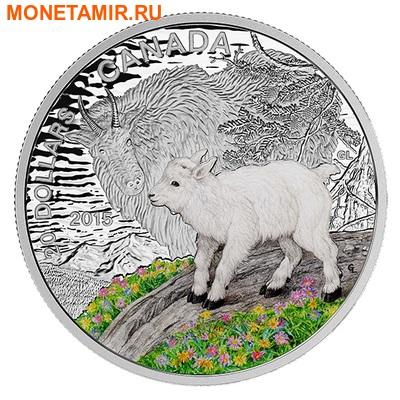 Канада 20 долларов 2015.Горный козел – Детеныши животных.Арт.000100050835/60 (фото)