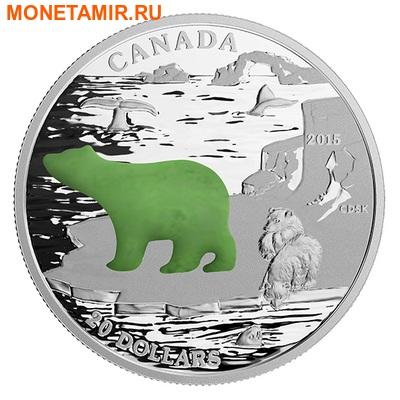 Канада 20 долларов 2015.Белый Медведь.Нефрит.Арт.000502450843/60 (фото)