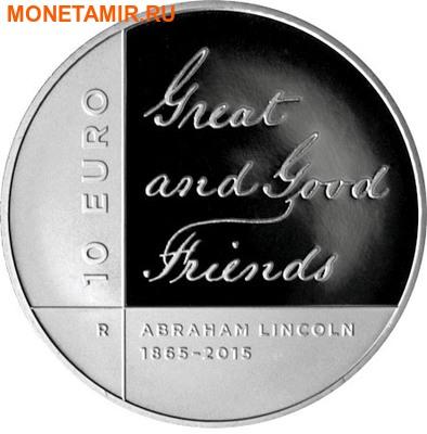Сан-Марино 10 евро 2015.150 лет со дня смерти Авраама Линкольна.Арт.000100050849/60 (фото)