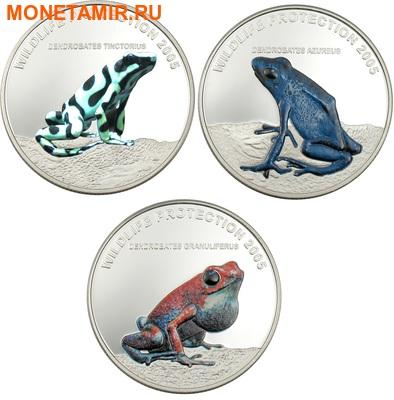 Либерия 3х10 долларов 2005.Тропические лягушки – Бриллианты джунглей.Арт.000188742454