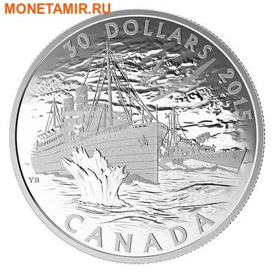 Канада 30 долларов 2015.Канадский Торговый Флот – Битва за Атлантику.Арт.60 (фото)