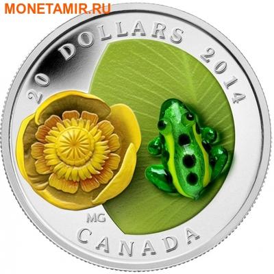 Канада 20 долларов 2014.Леопардовая лягушка и кувшинка. Муранское стекло.Арт.000453648358 (фото)