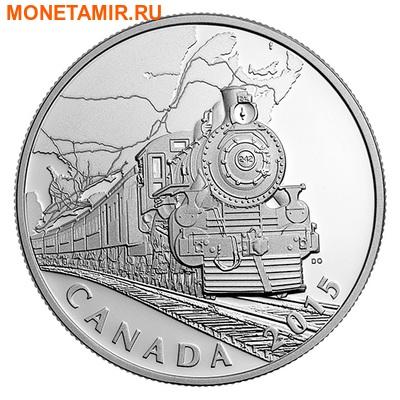 Канада 20 долларов 2015.Поезд – Трансконтинентальная железная дорога серия Канадский тыл.Арт.60 (фото)