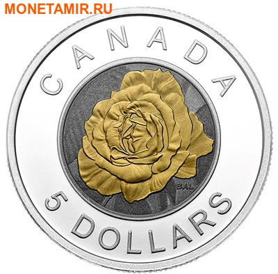 Канада 5 долларов 2014.Роза серия Цветы Канады (Ниобий).Арт.000429948269 (фото)