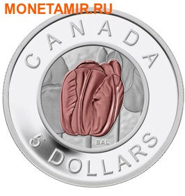 Канада 5 долларов 2014.Тюльпан серия Цветы Канады (Ниобий).Арт.000444148264 (фото)