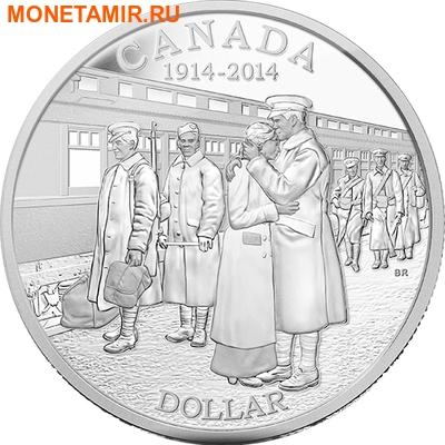 Канада 1 доллар 2014.100 лет начала первой мировой войны.Арт.000179646276 (фото)