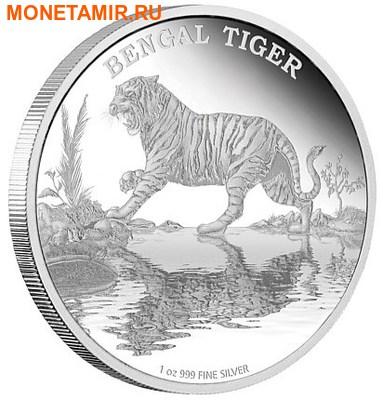 Ниуэ 2 доллара 2015.Бенгальский тигр серия Исчезающие виды.Арт.60 (фото)