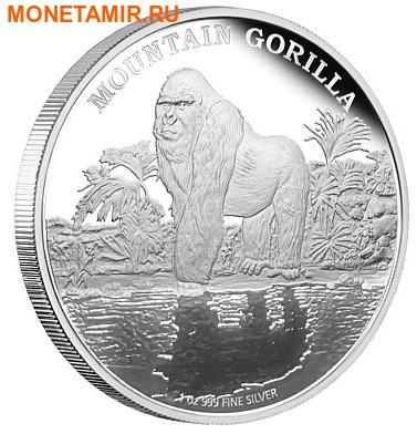 Ниуэ 2 доллара 2015.Горная горилла серия Исчезающие виды.Арт.60 (фото)