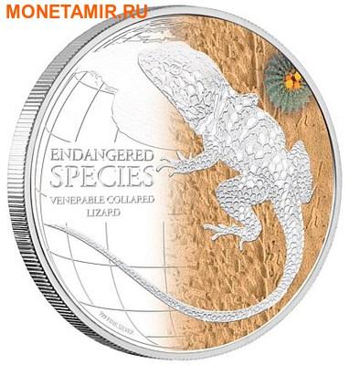 Ниуэ 2 доллара 2013.Кольчатая ящерица серия Исчезающие виды.Арт.000427544996 (фото)
