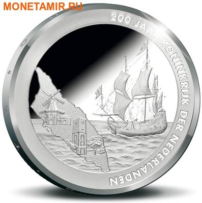 Аруба 5 флоринов 2015.200 лет нахождения в составе Королевства Нидерландов.Корабль.Арт.000100050792/60