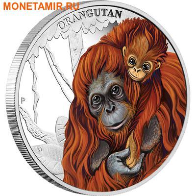 Тувалу 50 центов 2014.Орангутан серия Материнская любовь.Арт.000100050569/60 (фото)
