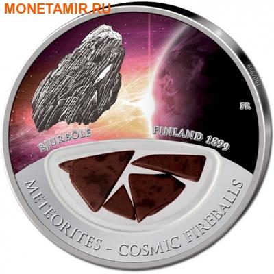 Фиджи 10 долларов 2013.Метеорит – Бьюрбол (BJURBOLE) серия Метеориты и Кометы. (фото)