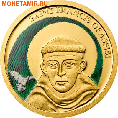 Палау 1 доллар 2008.Святой Франциск Ассизский.Арт.60 (фото)