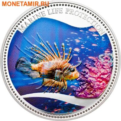Палау 5 долларов 2009.Красная крылатка (Red Lionfish) – Защита морской жизни.Арт.60 (фото)