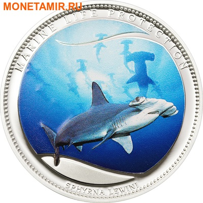 Палау 1 доллар 2010.Акула молот зубчатая (Scalloped Hammerhead) – Защита морской жизни.Арт.000058332208/60 (фото)