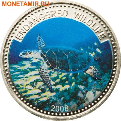 Палау 1 доллар 2008.Черепаха Бисса (Hawksbill Turtle) – Под угрозой исчезновения.Арт.000044534185/60 (фото)