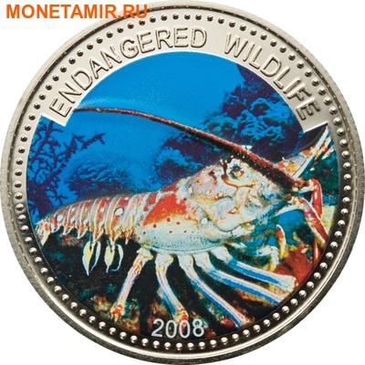 Палау 1 доллар 2008.Лангуст (Spiny Lobster) – Под угрозой исчезновения.Арт.60 (фото)
