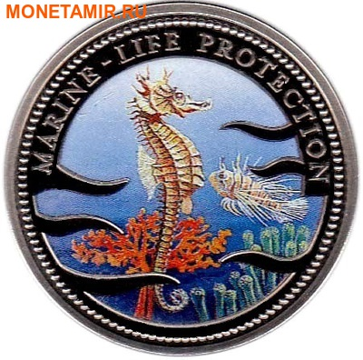 Палау 1 доллар 1995.Морской конек – Защита морской жизни.Арт.000040041816/60 (фото)