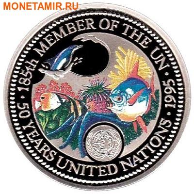 Палау 1 доллар 1995.Морская фауна.50 лет ООН – Защита морской жизни.Арт.000040041815/60 (фото)