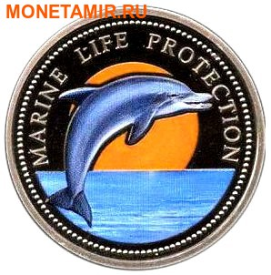 Палау 1 доллар 1998.Дельфин – Защита морской жизни.Арт.000040047748/60 (фото)