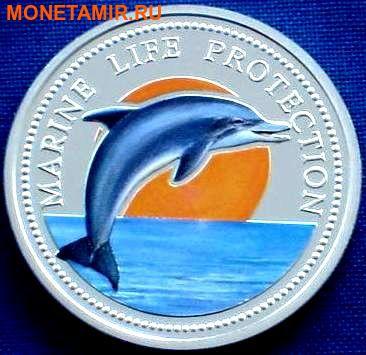 Палау 5 долларов 1998.Дельфин – Защита морской жизни.Арт.000135041842/60 (фото)
