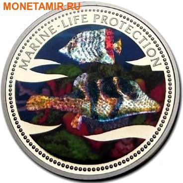 Палау 1 доллар 2002.Морская Рыба – Защита морской жизни (голограмма).Арт.000046043290/60 (фото)