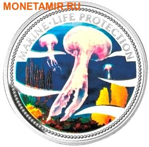 Палау 5 долларов 2001.Медуза – Защита морской жизни.Арт.000152545411/60 (фото)