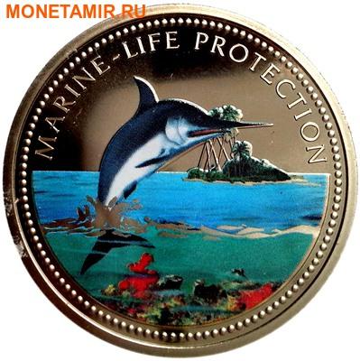 Палау 1 доллар 2000.Рыба-меч – Защита морской жизни.Арт.000031942308/60 (фото)