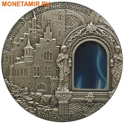 Ниуэ 2 доллара 2012.Тайны замка Лихтенштейн серия Искусство кристаллов.Агат.Арт.60 (фото)