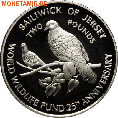 Джерси 2 фунта 1987.Голуби.Всемирный фонд дикой природы.Арт.000071433597/60 (фото)